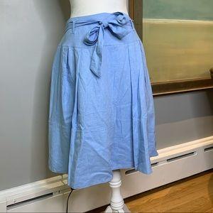 Isaac Mizrahi Blue Chambray Skirt